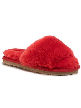 Mou Mou Bačkory Sheepskin Fur Slide Slipper Černá
