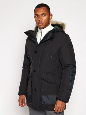 G-Star RAW G-Star RAW Parka Vodan Faux Fur D17614-A281-6484 Čierna Regular Fit