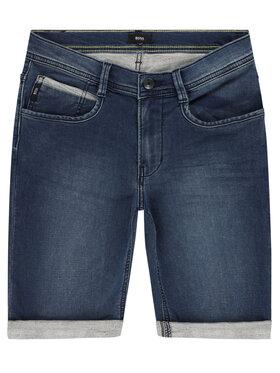 Boss Boss Pantaloni scurți de blugi J24630 D Bleumarin Regular Fit
