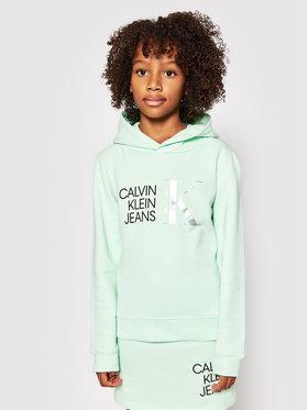 Calvin Klein Jeans Calvin Klein Jeans Majica dugih rukava Hybrid Logo IG0IG00873 Zelena Regular Fit
