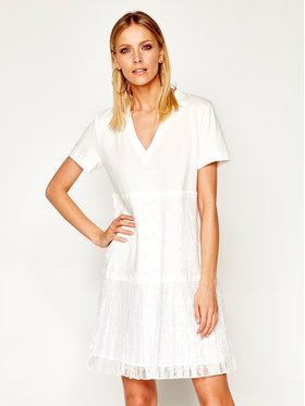My Twin My Twin Kasdieninė suknelė 201MT2052 Balta Regular Fit
