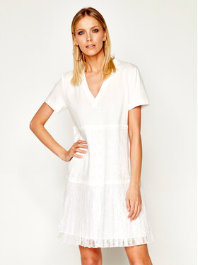My Twin My Twin Kleid für den Alltag 201MT2052 Weiß Regular Fit