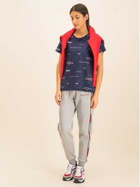 Tommy Sport Tommy Sport T-Shirt Graphic Tee Blend S10S100412 Dunkelblau Relaxed Fit