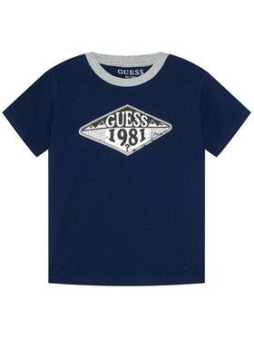 Guess Guess T-Shirt L1GI09 K8HM0 Granatowy Regular Fit