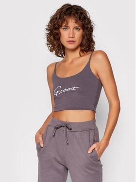 Guess Guess Marškinėliai Dolly O1BA10 KASI1 Violetinė Slim Fit