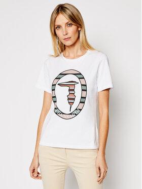 Trussardi Trussardi T-Shirt 56T00371 Biały Regular Fit