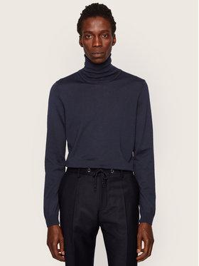Boss Boss Bluză cu gât Musso-P 50392083 Bleumarin Slim Fit