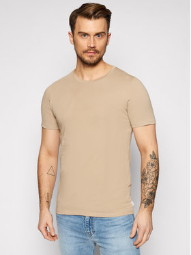 Jack&Jones Jack&Jones T-Shirt Orrganic Basic 12156101 Béžová Slim Fit