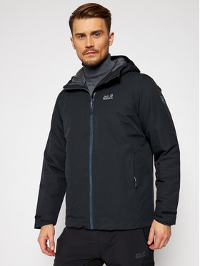 Jack Wolfskin Jack Wolfskin Outdoor striukė Argon Storm 1111722 Juoda Regular Fit