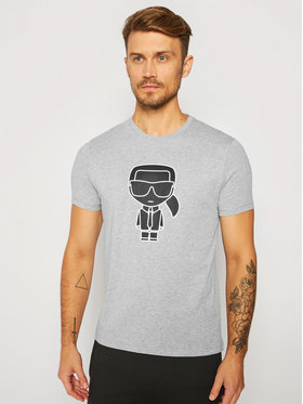 KARL LAGERFELD KARL LAGERFELD T-Shirt Crewneck 755080 502224 Szary Regular Fit