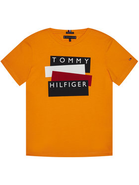 TOMMY HILFIGER TOMMY HILFIGER T-Shirt Sticker Tee KB0KB05849 D Oranžová Regular Fit