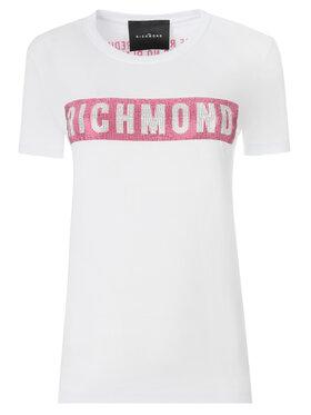 John Richmond John Richmond T-Shirt RWP19028TS Biały Slim Fit