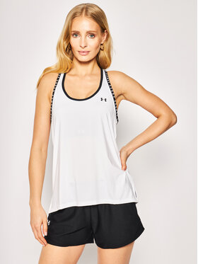 Under Armour Under Armour Топ Knockout 1351596 Бял Oversize
