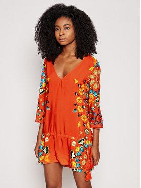 Desigual Desigual Sukienka plażowa Maui 21SWMW21 Czerwony Regular Fit