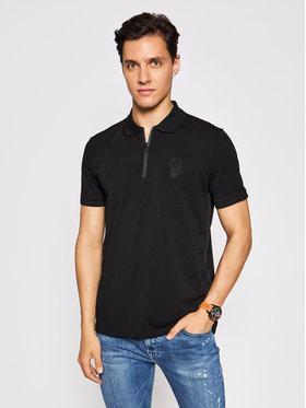 KARL LAGERFELD KARL LAGERFELD Тениска с яка и копчета 745020 511221 Черен Regular Fit