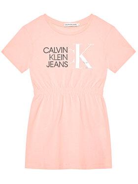 Calvin Klein Jeans Calvin Klein Jeans Rochie de zi Hybrid Logo IG0IG00913 Roz Regular Fit