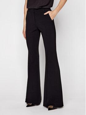 MICHAEL Michael Kors MICHAEL Michael Kors Текстилни панталони Crepe Flared Trousers MF03HF0ENX Черен Regular Fit