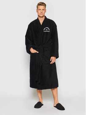 KARL LAGERFELD KARL LAGERFELD Robe de chambre Unisex Address Logo 215W2180 Noir