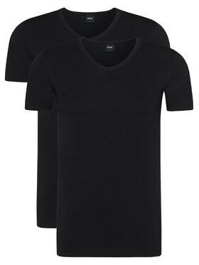 Boss Boss 2-dielna súprava tričiek Vn 2P Co/El 50325408 Čierna Slim Fit