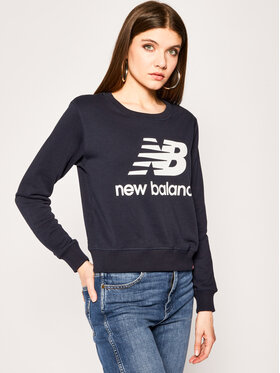 New Balance New Balance Džemperis Essentials Crew WT91585 Tamsiai mėlyna Relaxed Fit