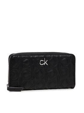 Calvin Klein Calvin Klein Veľká dámska peňaženka Re-Lock Z/A Wallet Lg Quilt K60K608607 Čierna