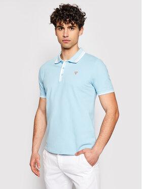 Guess Guess Polo marškinėliai M1RP60 K7O61 Mėlyna Slim Fit