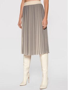 Peserico Peserico Plisovaná sukňa P0540100P1 07309 Béžová Regular Fit