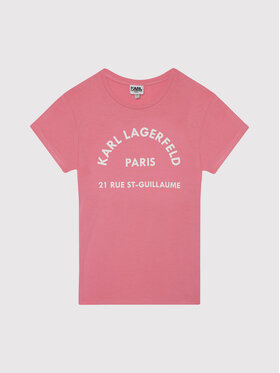KARL LAGERFELD KARL LAGERFELD Тишърт Z15T59 D Розов Regular Fit
