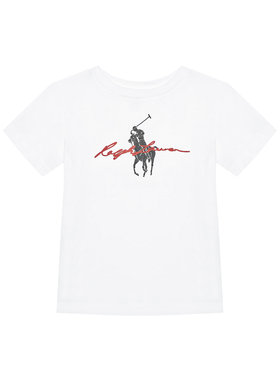 Polo Ralph Lauren Polo Ralph Lauren T-Shirt Ss Graph Tee 323839239001 Biały Regular Fit