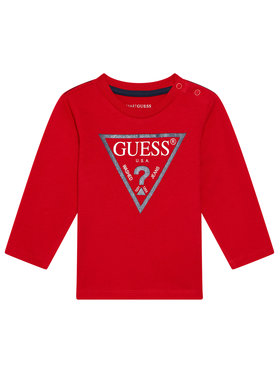 Guess Guess Chemisier N84I24 K8HM0 Rouge Regular Fit