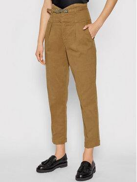 Pinko Pinko Spodnie materiałowe Ariel 1J10QT Y78Y Brązowy Regular Fit