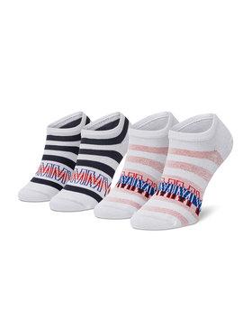 Tommy Hilfiger Tommy Hilfiger Комплект 2 чифта къси чорапи детски 100002313 Бял