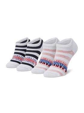 Tommy Hilfiger Tommy Hilfiger Set di 2 paia di calzini corti da bambini 100002313 Bianco