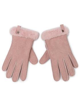 Ugg Ugg Ръкавици W Shorty Glove W Leather Trim 17367 Розов