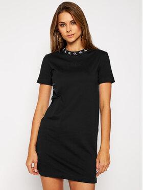 Calvin Klein Jeans Calvin Klein Jeans Φόρεμα καθημερινό Logo J20J214925 Μαύρο Regular Fit