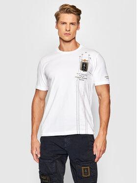 Aeronautica Militare Aeronautica Militare T-shirt 212TS1900J507 Blanc Regular Fit