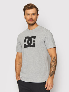 DC DC T-Shirt Star ADYZT04794 Γκρι Regular Fit
