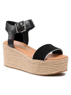 Tommy Jeans Tommy Jeans Espadrile Essential Flatform Sandal EN0EN01320 Crna