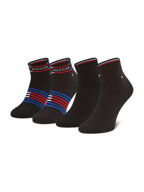 Tommy Hilfiger Tommy Hilfiger Sada 2 párů pánských vysokých ponožek 100002212 Černá