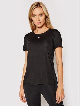 Tommy Hilfiger Tommy Hilfiger Tehnička majica Fabric Mix Tee S10S101057 Crna Regular Fit