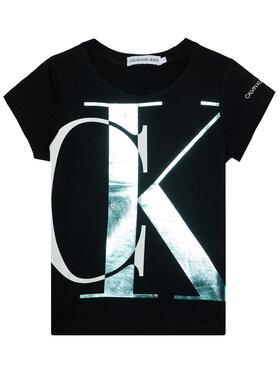 Calvin Klein Jeans Calvin Klein Jeans Póló Exploded Monogram IG0IG00662 Fekete Slim Fit