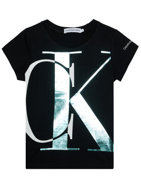 Calvin Klein Jeans Calvin Klein Jeans T-Shirt Exploded Monogram IG0IG00662 Czarny Slim Fit
