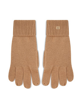 Tommy Hilfiger Tommy Hilfiger Damenhandschuhe Th Lux Cashmire Gloves AW0AW10735 Beige