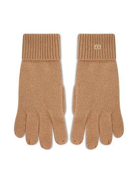 Tommy Hilfiger Tommy Hilfiger Moteriškos Pirštinės Th Lux Cashmire Gloves AW0AW10735 Smėlio