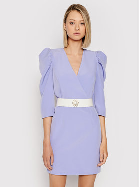 Rinascimento Rinascimento Kokteilinė suknelė CFC0101985003 Violetinė Slim Fit