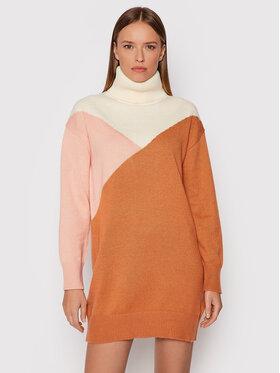 Roxy Roxy Úpletové šaty Full Of Colors ERJKD03378 Oranžová Regular Fit