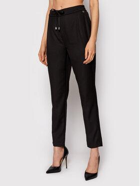 Rinascimento Rinascimento Текстилни панталони CFC0103954003 Черен Regular Fit