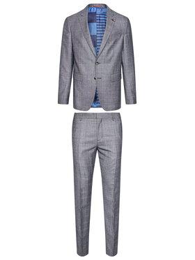 Tommy Hilfiger Tailored Tommy Hilfiger Tailored Oblek Check TT0TT08549 Sivá Slim Fit