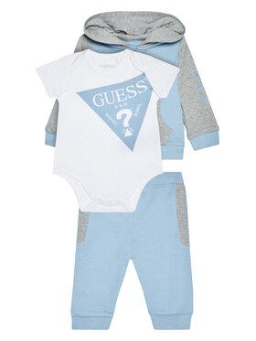 Guess Guess Komplet bluza, body i spodnie dresowe P0YG06 KA6W0 Niebieski Regular Fit
