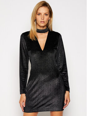 Just Cavalli Just Cavalli Koktejlové šaty S04CT1061 Černá Slim Fit